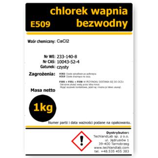 chlorek wapnia bezwodny 1kg E509