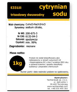 Cytrynian trisodowy dwuwodny E331iii